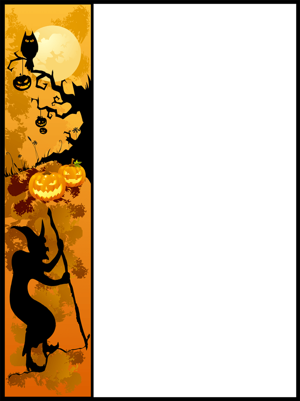 picture royalty free Vector dividers halloween. Divider clip transparent library