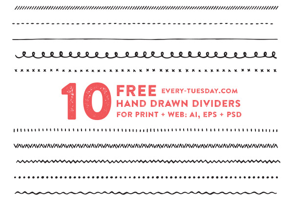 jpg library download Freebie . Vector dividers hand drawn