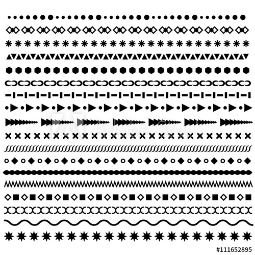 clip transparent library Borders set geometric dotted. Vector dividers horizontal line