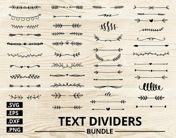 jpg library stock Vector dividers leaf. Text svg bundle clipart