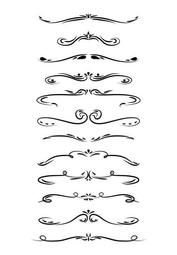 clip art free stock Vector dividers page divider. Wedding clipart line .