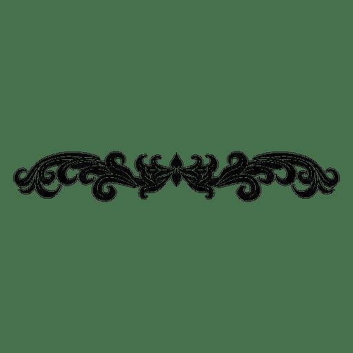 svg Vector dividers pattern. Curvy floral swirls divider