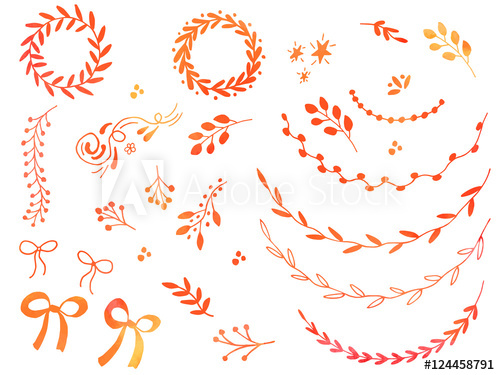 svg library Collection of hand drawn. Vector dividers ribbon.