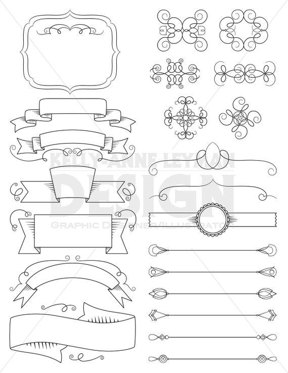 png transparent Vector dividers ribbon. Digital ribbons clipart labels.