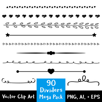 picture freeuse download Vector dividers simple.  mega pack flourish