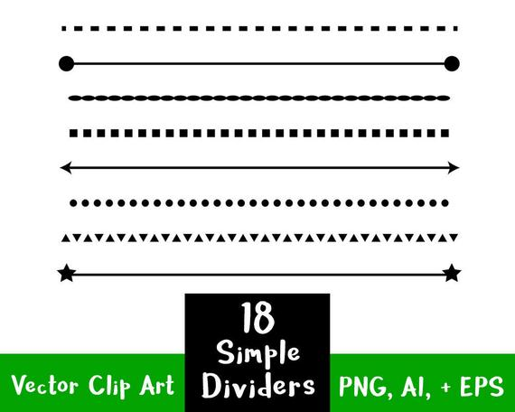 clip art free Vector dividers simple.  shape line clip