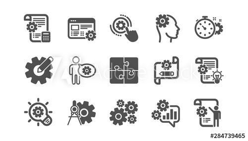 image stock Vector dividers tool. Engineering icons puzzle and