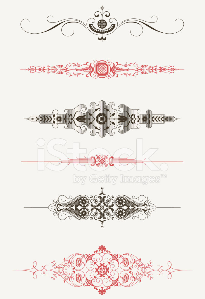 image black and white Vintage text stock freeimages. Vector dividers victorian