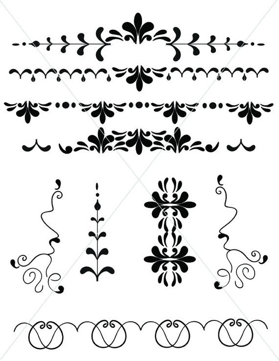 png transparent library Svg swirl graphics underlines. Vector dividers victorian