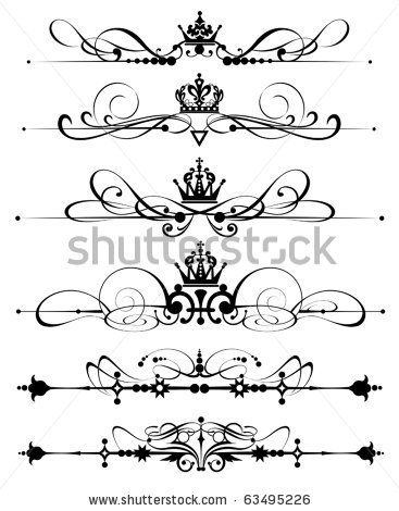 clipart royalty free stock Vector dividers victorian. Decorative calligraphy scrolls and