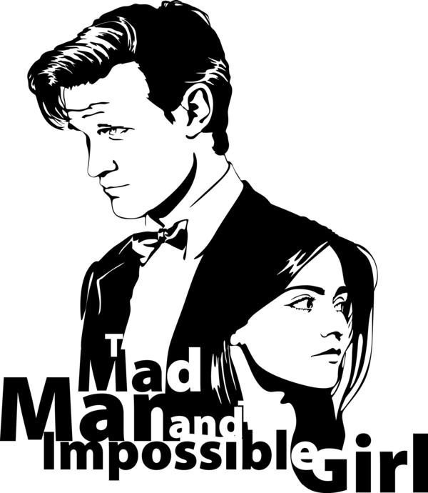 png black and white download Who s by mad. Vector doctor 11th
