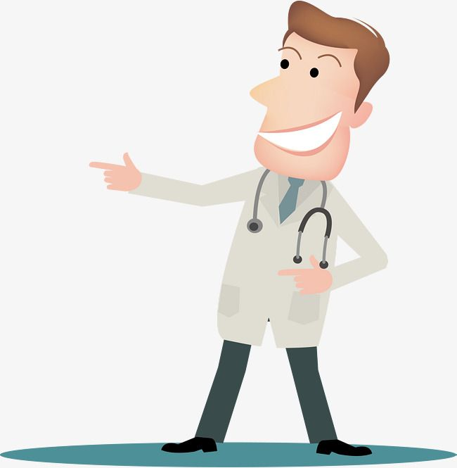 graphic black and white library Vector doctor animation. Cartoon male