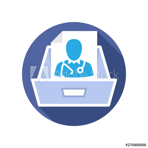 freeuse library Illustration icon with the. Vector doctor cabin