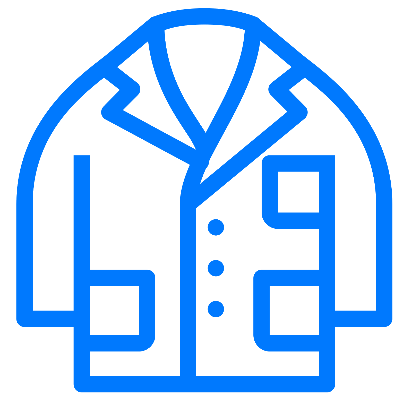 png royalty free Vector doctor coat. Lab filled icon free