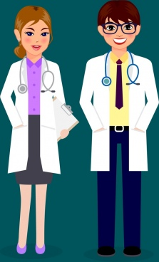 banner black and white download Vector doctor docter. Icon free download