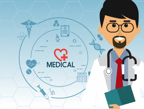 banner black and white download Icon free download . Vector doctor docter