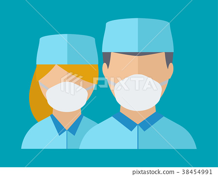 royalty free stock Spetialist avatar medical staff. Vector doctor face