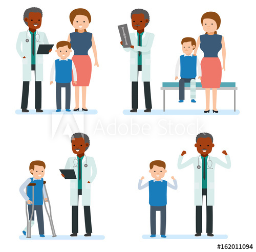png Vector doctor family. Caring for the health