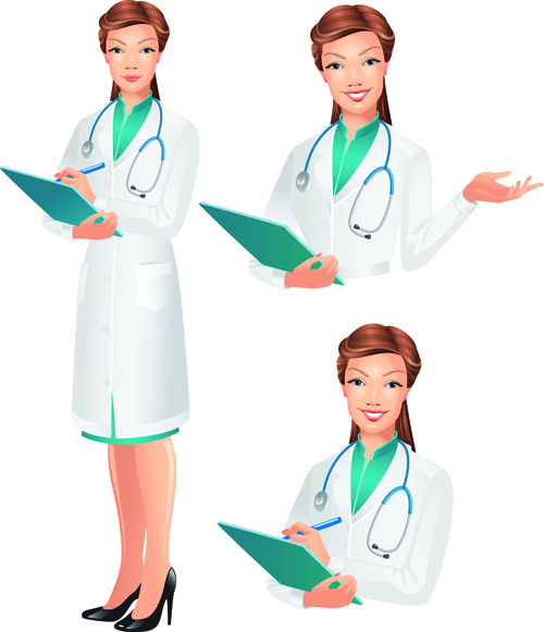 png royalty free stock Design elements set free. Vector doctor female