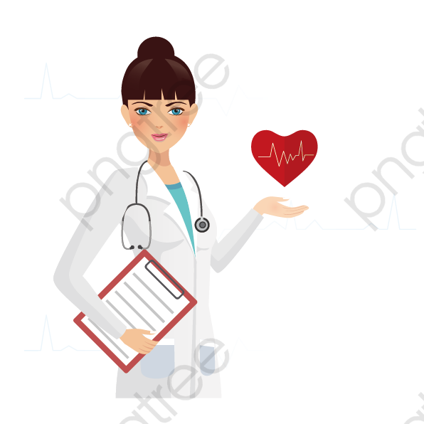 freeuse stock Vector doctor female. Health cartoon medical png