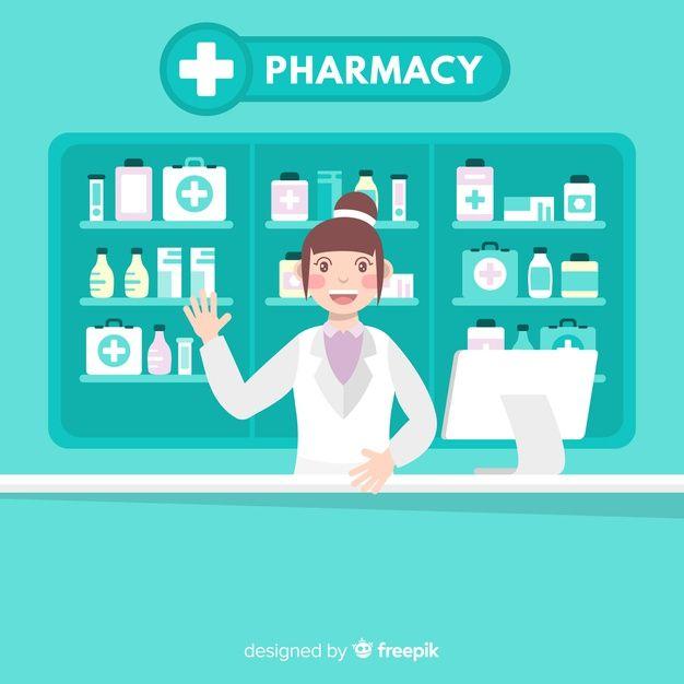 banner freeuse Pharmacist free flatdesign . Vector doctor freepik