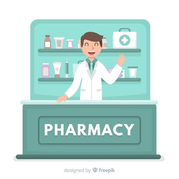 banner freeuse Vector doctor freepik. Pharmacist free flatdesign