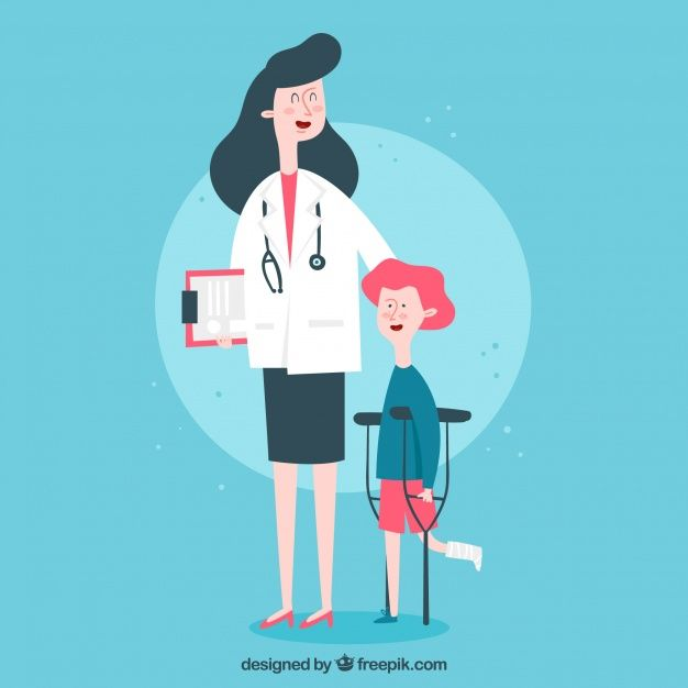 picture royalty free download Vector doctor freepik. And patient with clipboard