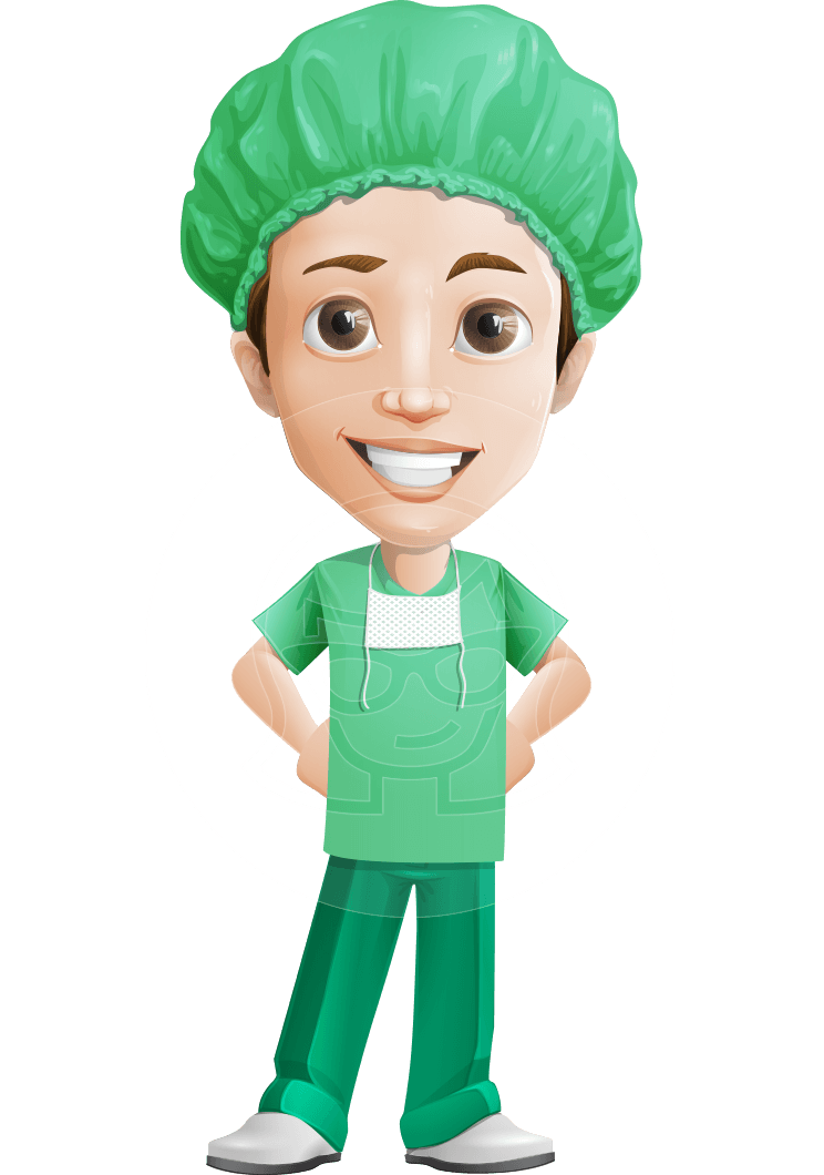 clip art freeuse stock Male character dr henry. Vector doctor handsome