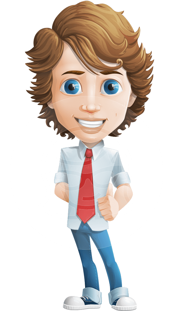 clip art library library Blueeyed male character