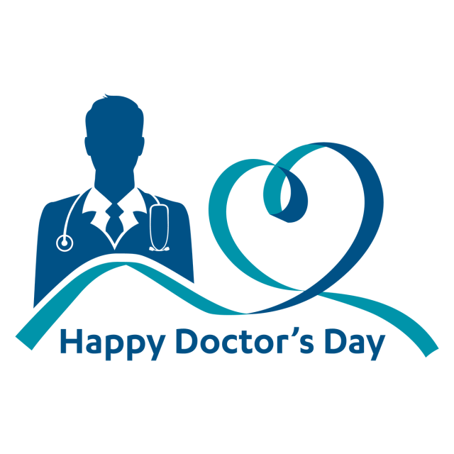 image black and white stock Happy Doctor