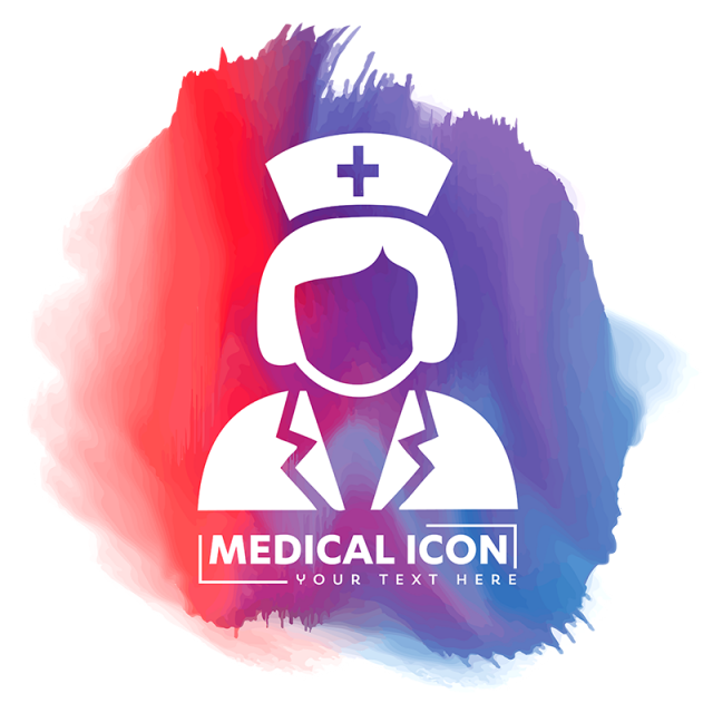 clip black and white library Vector doctor illustration. Nurse icon assistant banner