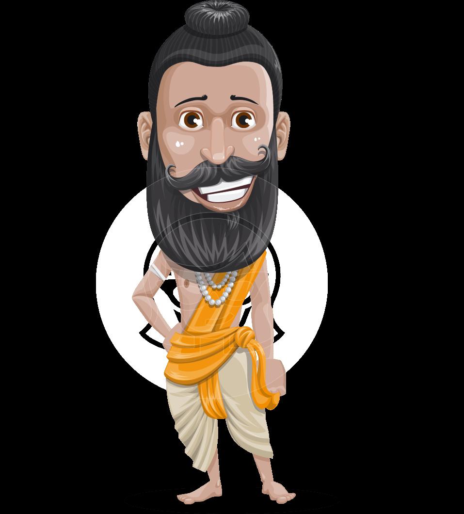 image transparent stock Vector doctor indian. Spiritual man character illustration