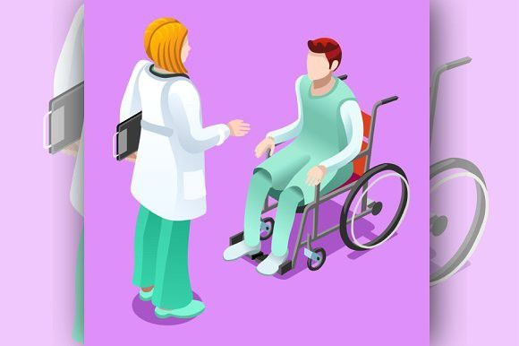 banner freeuse download Talking with patient elements. Vector doctor infographic