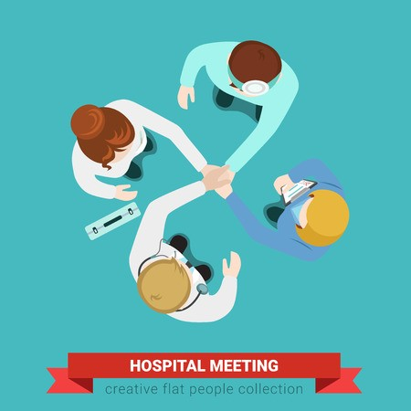 picture free Hospital medical handshake team. Vector doctor infographic