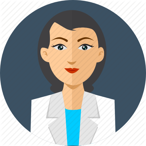 svg stock Vector doctor lady. Avatar by graphiqa stock