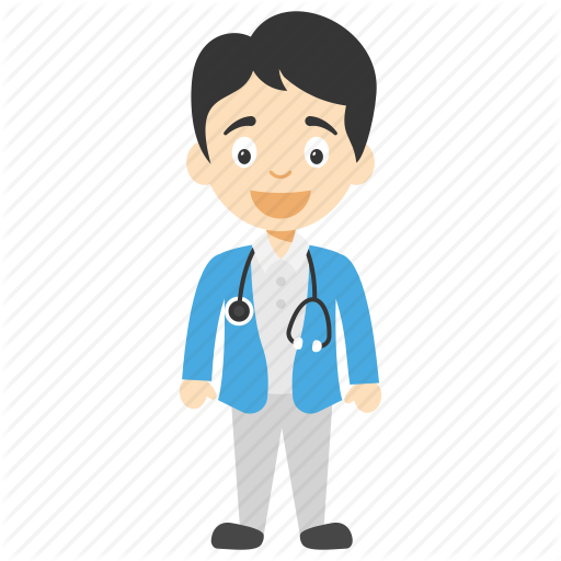 picture freeuse library Vector doctor male. Kids cartoon by vectors