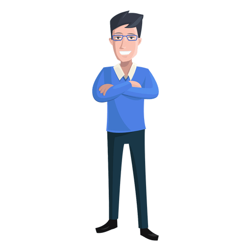 clipart royalty free library Vector doctor male. Man hands crossed illustration