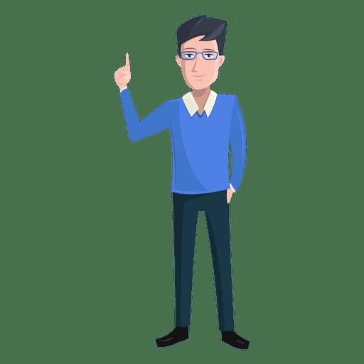 clip transparent stock Vector doctor man. Finger raised illustration transparent