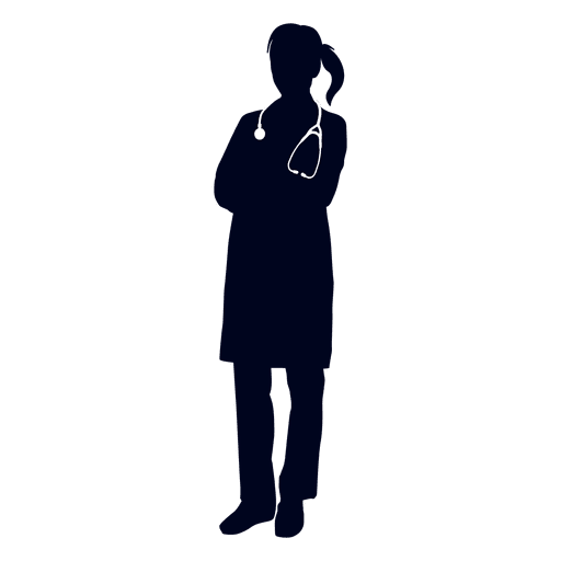 graphic transparent stock Female silhouette transparent png. Vector doctor meaning