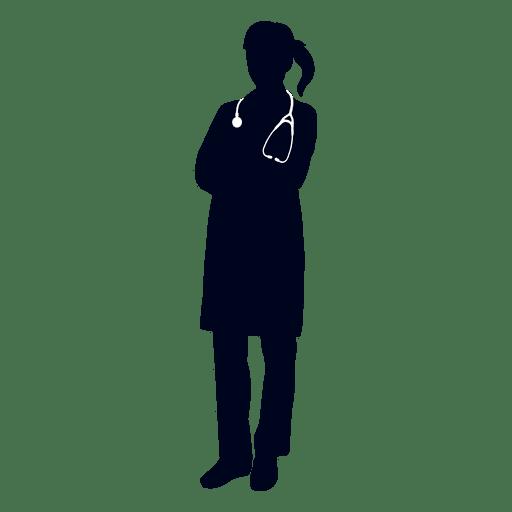 svg stock Female doctor silhouette