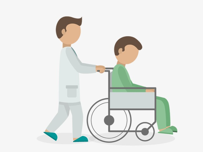 jpg freeuse library Vector doctor patient. Download free png pushing