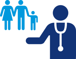 vector free And blue clip art. Vector doctor patient