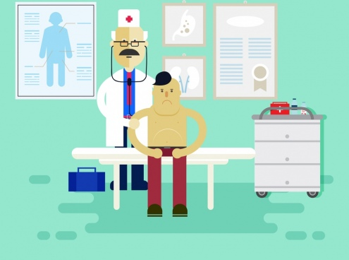 clip library download Free download . Vector doctor patient