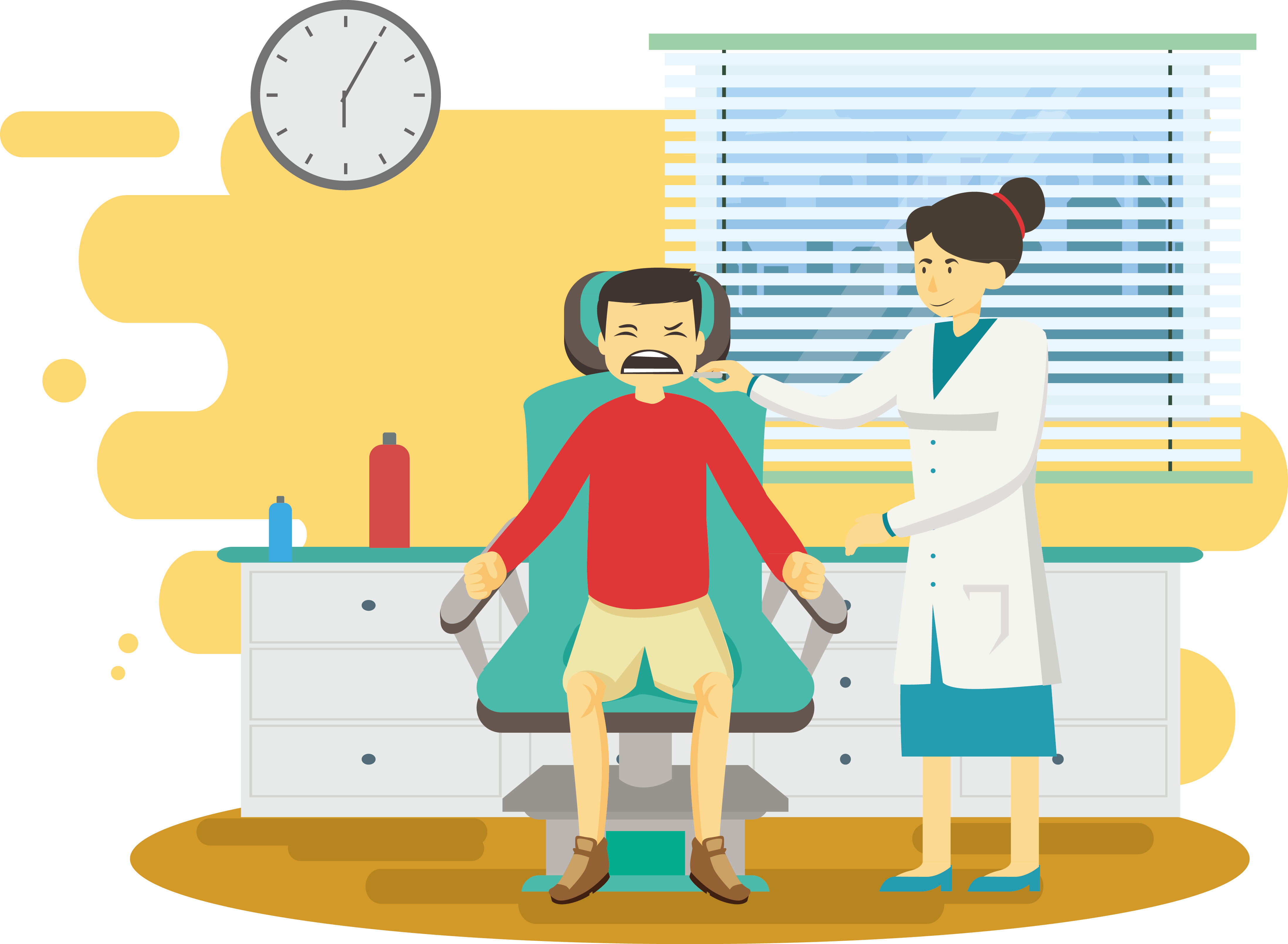 clip library download Dentist physician illustration hygiene. Vector doctor room