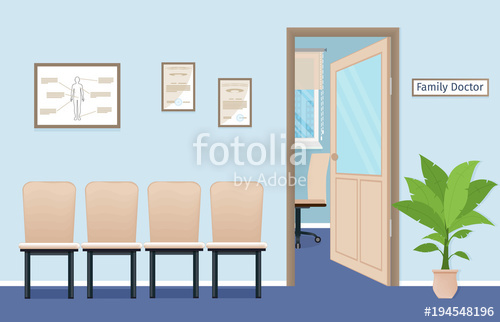 picture transparent library Vector doctor room. Family s consultation office