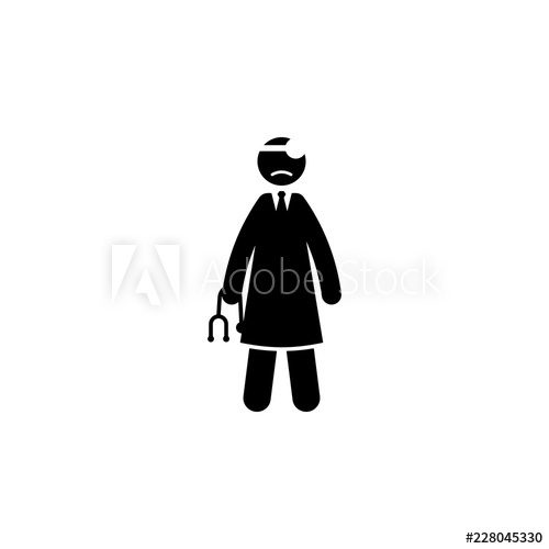 banner transparent stock Vector doctor sad. Icon element of cyber