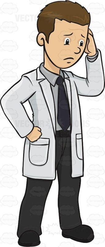 vector freeuse stock Pin on illustrations . Vector doctor sad