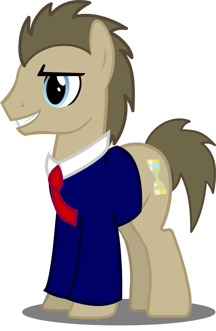 jpg black and white Whooves in an outfit. Vector doctor suit