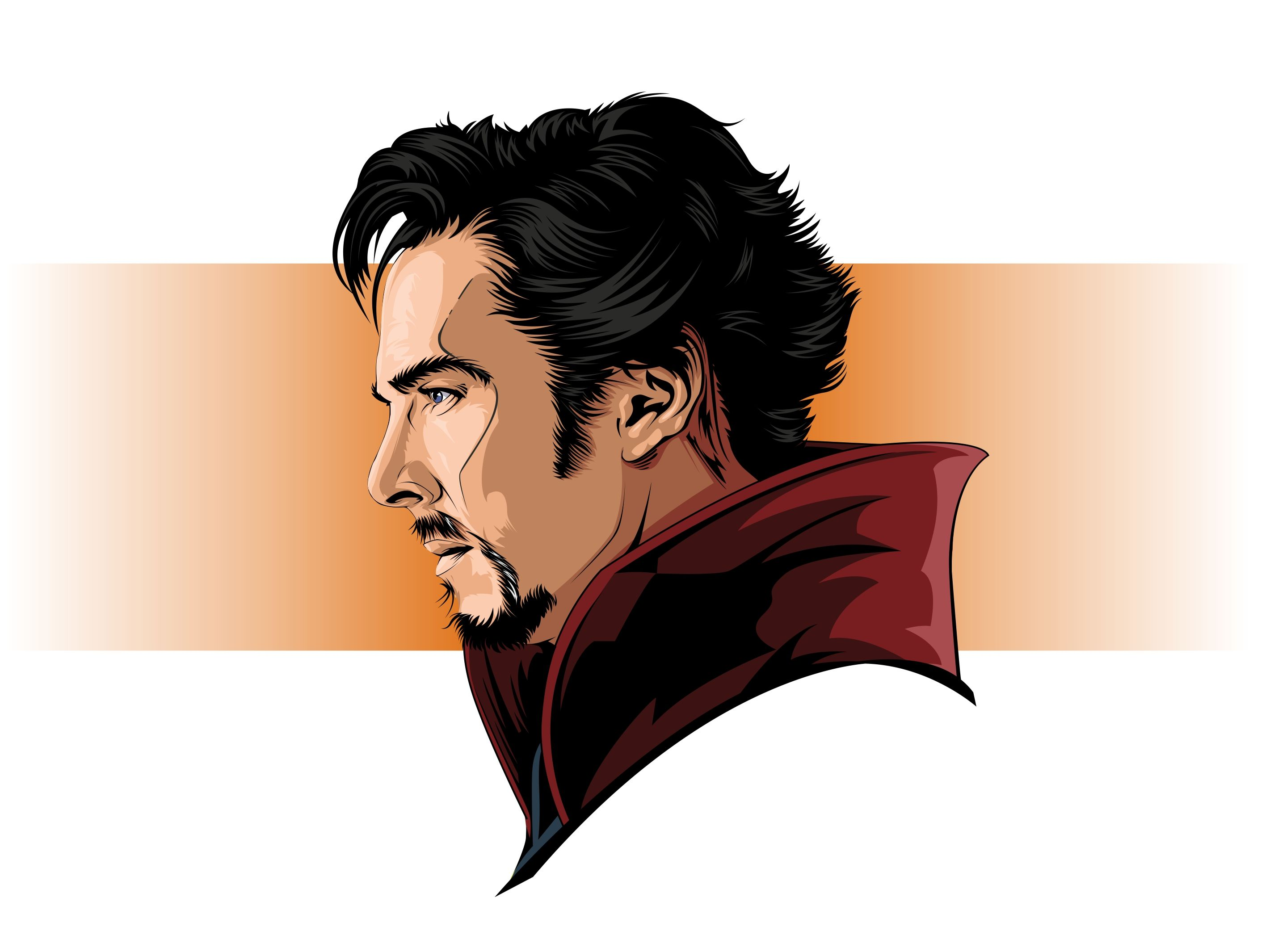 jpg black and white Vector doctor superhero. Art dr strange coreldraw