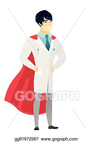 picture freeuse library Vector doctor superhero. Art wearing a red